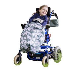 車椅子・バギー用フリースレッグカバー、レインコート、防寒、防水。障害児、医療的ケア児、バリアフリー。