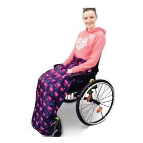 車椅子用フリースレッグカバー。車いす、バギー用、防寒防水ひざかけ。